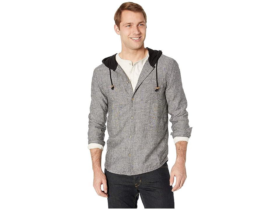 tentree Mancos Long Sleeve Button Up Hoodie (Meteorite) Men