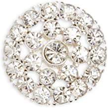 Darice David Tutera Illusion Large Crystal Rhinestone Magnet Brooches