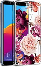 BAISRKE Huawei Y7 Prime 2018 Case,Honor 7C Case with Flowers Slim Shockproof Clear Floral Pattern Soft Flexible TPU Back C...