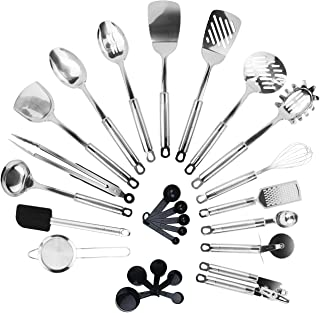 KRONENKRAFT Set d'ustensiles de cuisine en acier inoxydable de 26 pièces,accessoires de cuisine, set de cuisson , ensemble...