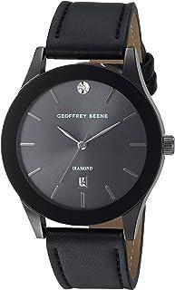 Geoffrey Beene Men's GB8122GU Analog Display Analog Quartz Black Watch
