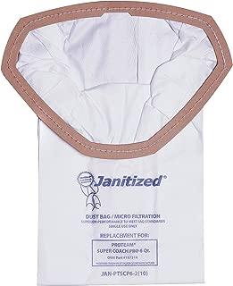 Janitized JAN-PTSCP6-2(10) Premium Replacement Commercial Vacuum Bag for ProTeam Super Coach Pro 6, GoFree Pro & ProVac FS 6 Qt. Vacuums(10-10 Packs)