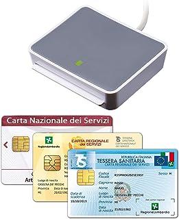 uTrust 2700 USB Lettore Carta Nazionale e Regionale dei Servizi (CNS, CRS), Tessera Sanitaria, Codice Fiscale (TSN), attiv...