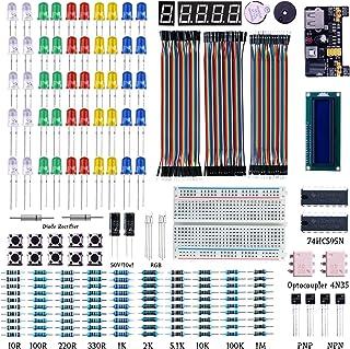 初心者向けの学習キット ラズベリー・パイ3/2model B用 UNO R3 Arduino キット 互換キット172 in 1基本部品セット 実験用 Mega2560、ブレッドボード、LED、LCD1602等