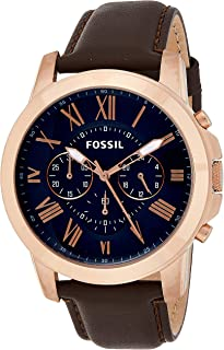 Fossil Casual Watch Analog Display Quartz For Men Fs5068, Brown Band