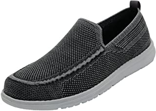 Mens Casual-Loafers Slip-on Canvas-Shoes - Walking...