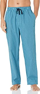 Nautica Men's Soft Woven 100% Cotton Elastic Waistband Sleep Pajama Pant, Blue Mist, Medium