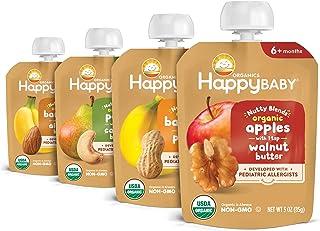 Happy Baby Organics Nuez Blends, paquete variado, 3 onzas (paquete de 8)