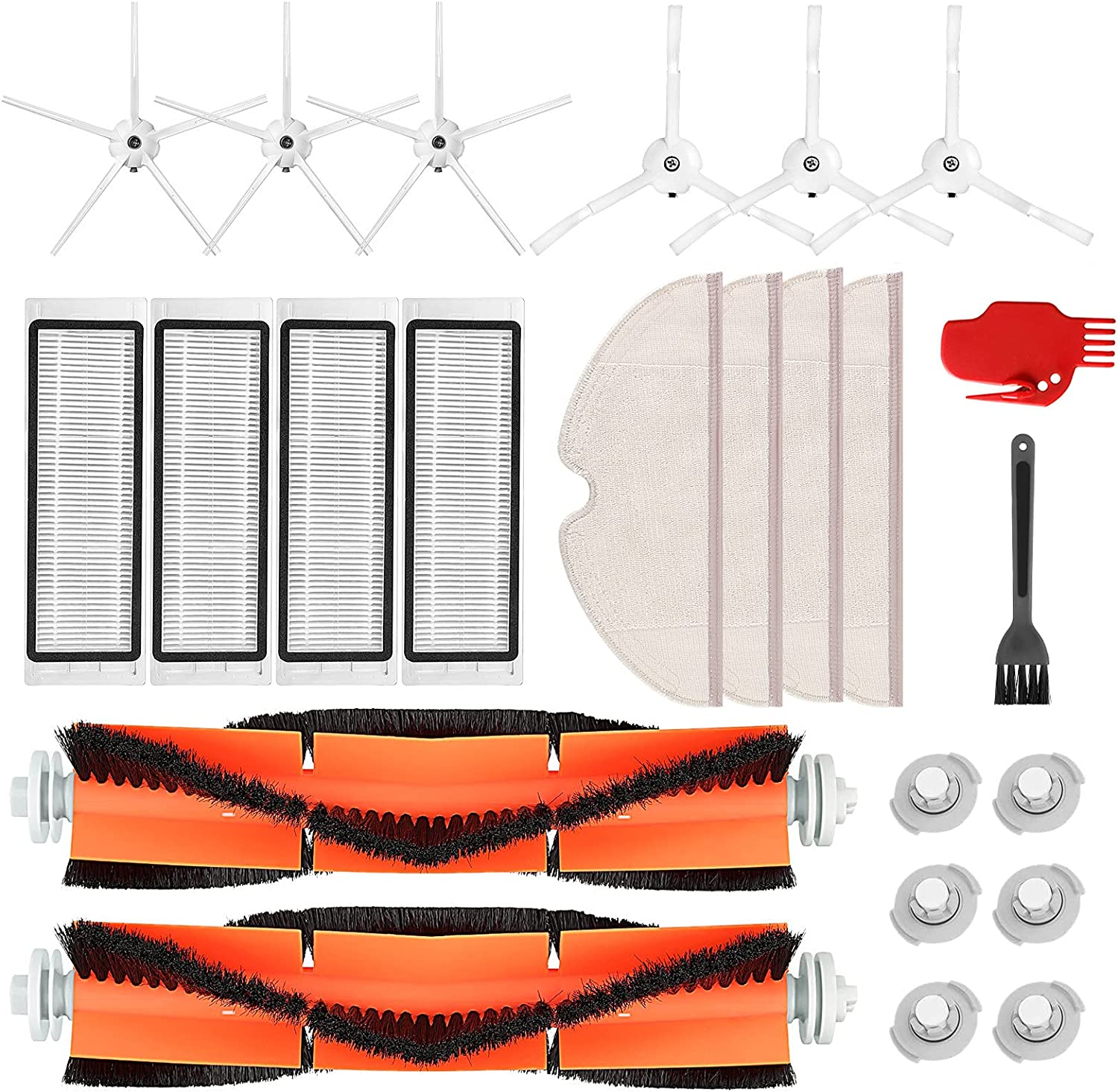 Discount is also underway Sale iSingo 24 Pack Accessories Kit for M Max Roborock S4 S5 S6