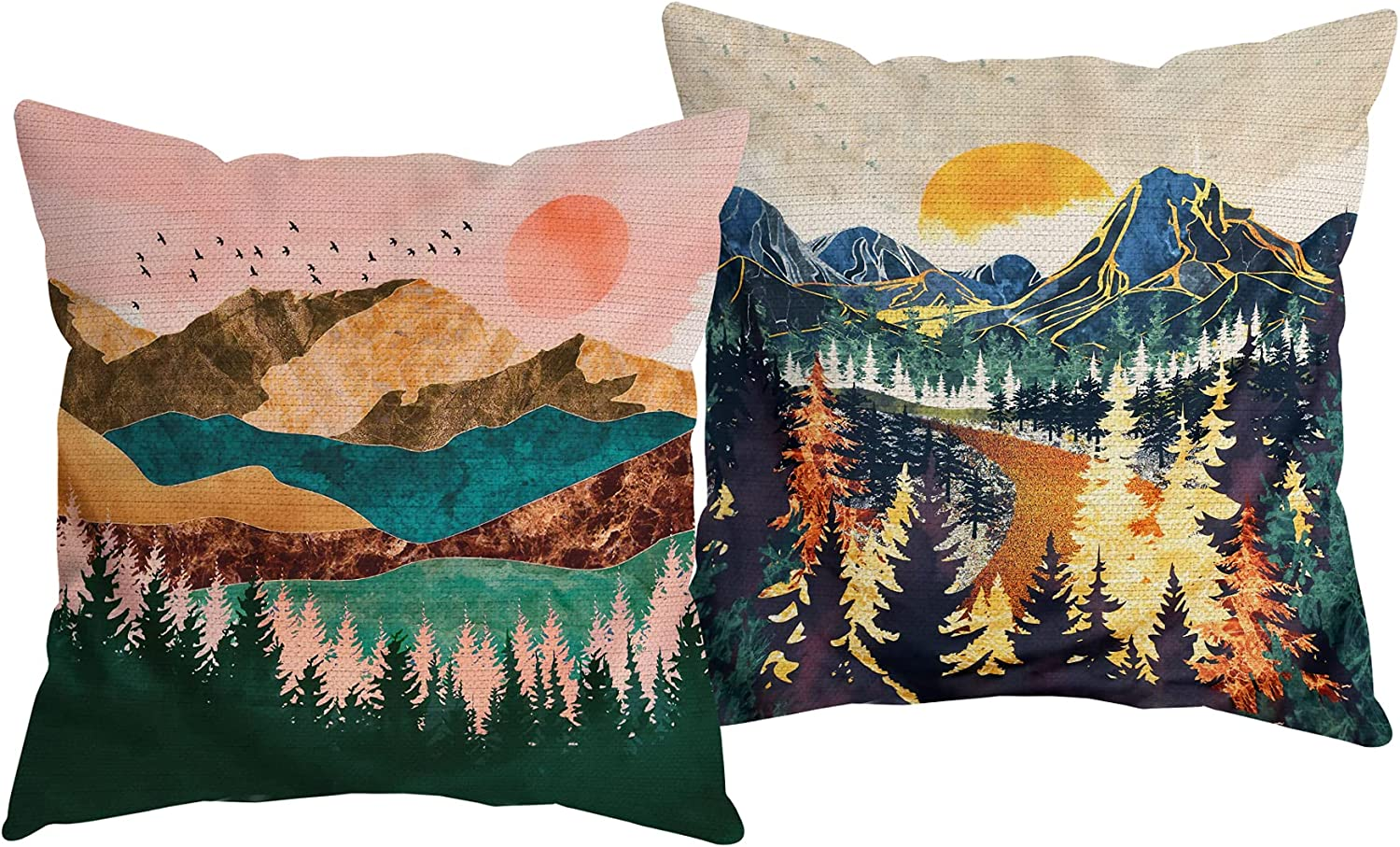 HUYAW Nature Forest Mountain Sunset P Throw Decorative 2021 Landscape security