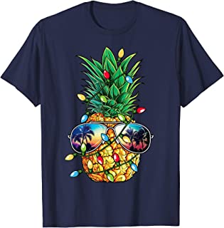Pineapple Christmas shirt Sunglasses Xmas Lights Boys Gift