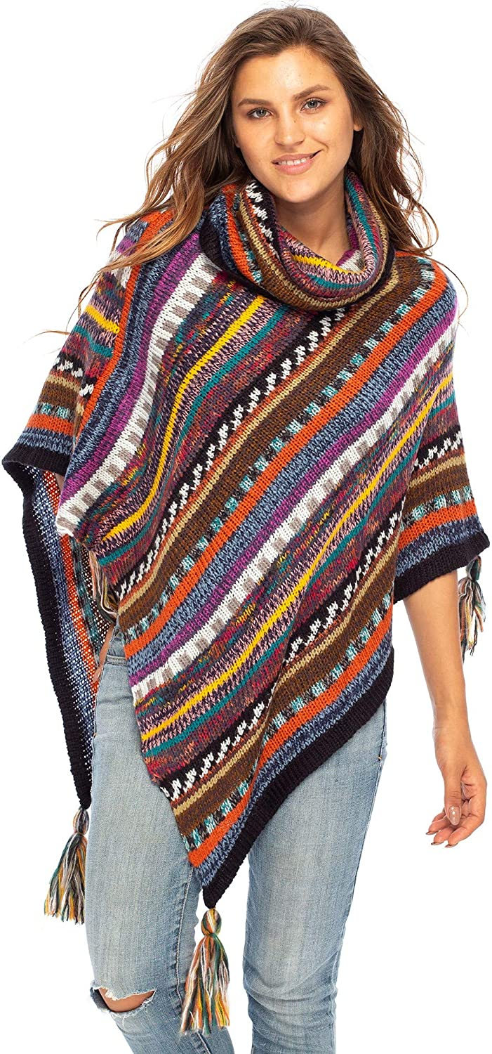 Back From Limited time sale Bali Womens Knit Sweater Cape Neck Soft Boho Cowl Luxury goods Ne T