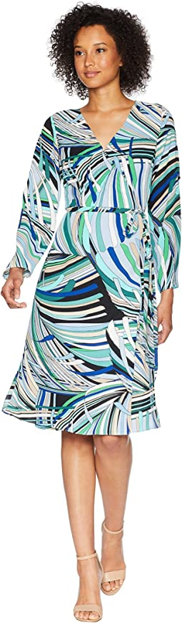 Emilio Maze Midi Wrap Dress