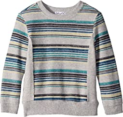 Reverse Baby French Terry Stripe Sweatshirt (Little Kids/Big Kids)