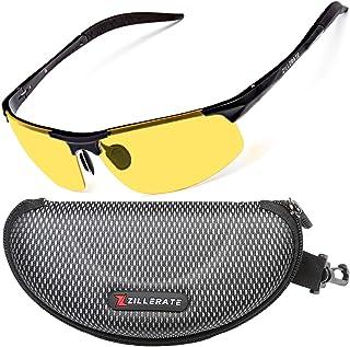ZILLERATE Night Driving Glasses for Men & Women - Anti-Glare Night Vision Glasses for Driving, Polarised Lenses Filter Daz...