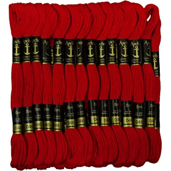 Rangoli Embroidery Cotton Threads Sewing Crafts Floss Skeins Knitting 25 Pcs