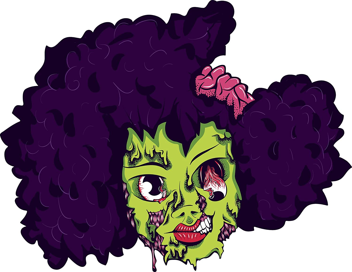 Cartoon afro girl with 23 Animated