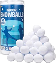 """2.8"""" Indoor Snowball (50 Pack) for Kids Snowball Fight, Fake Snowballs Toy Snowballs for Throwing Snowball Fight Game, Art..."""