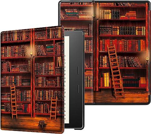 CASEBOT Etui Nouveau Kindle Oasis 2019 - Housse Coque Cover Flip Fin avec Fermeture Magnétique et Mise en Veille Auto...