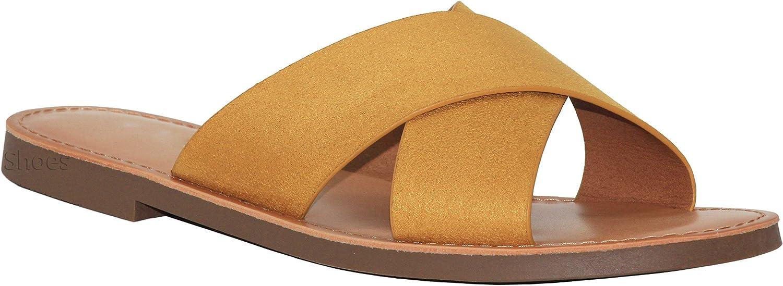 MVE shoes Women's Summer Triple Strap Cushioned Flip Flops
