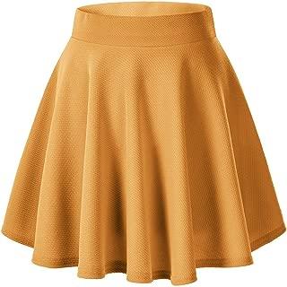 Urban CoCo Women's Basic Versatile Stretchy Flared Casual Mini Skater Skirt