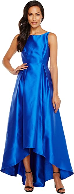 Adrianna Papell High-Low Halter Mikado Gown