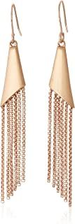Kenneth Cole Women's Geometric Chain Fringe Drop Earrings, Rose Gold, One Size