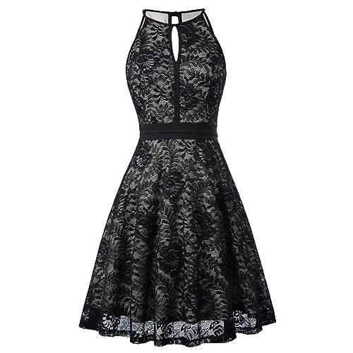 ecd278ca2aa Kate Kasin Lace Halter Sleeveless A-Line Keyhole Wedding Party Formal Dress  KK638