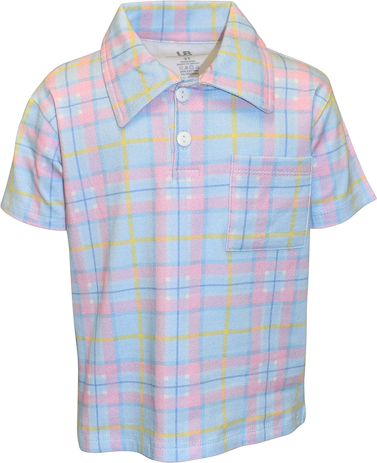 Unique Baby Boys Plaid Easter Collared Pullover Polo Shirt