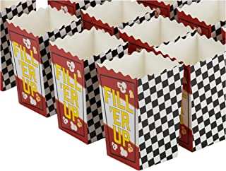 Blue Panda 50-Pack 5.5 Inch Tall Mini Racing Theme Paper Popcorn Party Boxes for Treats, Candy