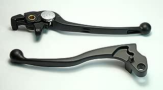 Bremshebel und Kupplungshebel Paar f/ür Kawasaki ER 5 ER5 Bj 2004-2005 Lenkerhebel schwarz pulverbeschichtet