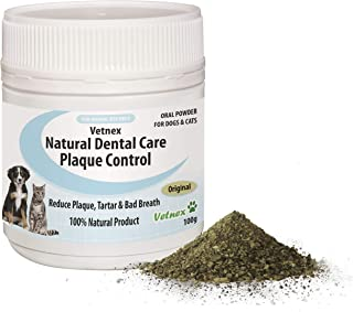 Vetnex Natural Dental Care Plaque Control Dental Powder (Original) for Dogs & Cats 100g
