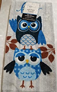 Mainstay Blue Owls Kitchen Towel