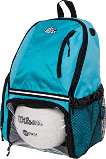 LISH Volleyball Backpack - Large School Sports Bag w/Ball Compartment