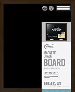 The Board Dudes Chalk Board Magnetic Wood Style Frame 22x18