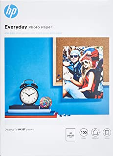 Hp Everyday Photo Paper Q2510A - Papel de fotografía brillante, A4 (210 X 297 mm), 100 hojas