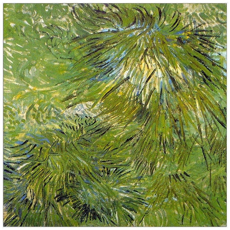 ArtPlaza TW90690 Van Gogh Vincent-Grass Decorative Panel, 31.5x31.5 Inch, Multicolored c7773983375