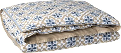 Be-You-tiful Home Iker Duvet Cover, King, Blue/Taupe