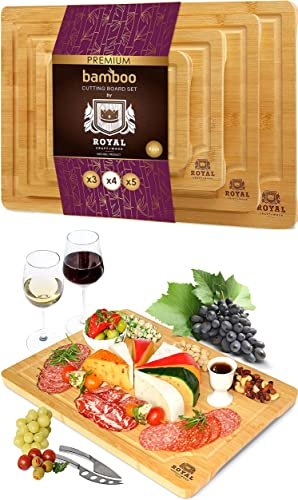 discount Cutting Board Set of 4 and Charcuterie Board high quality by lowest Royal Craft Wood outlet sale