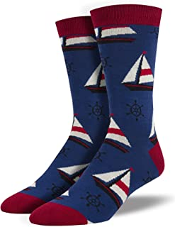 Socksmith Sailboats Navy 10-13 (Men's Shoe Sizes 7-12.5)