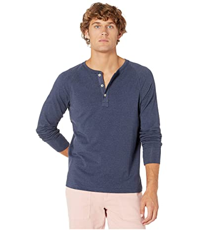 The Normal Brand Long Sleeve Puremeso Henley (Navy) Men
