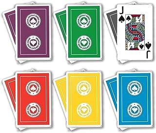 ACBL (American Contract Bridge League) Playing Cards - Jumbo Print - 1 Dozen Decks - Bridge Sized - Plastic Coated