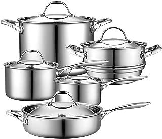 Best tramontina 10 piece stainless steel cookware set Reviews