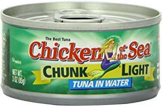 Chicken of the Sea Chunk Light Tuna in Water, 3-Ounce Easy Open Cans (Pack of 24)