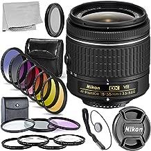 Nikon AF-P DX NIKKOR 18-55mm f/3.5-5.6G VR Lens (Certified Refurbished) Accessory Bundlle Includes: 3 Piece Multi Coated HD Filter Kit - 4pc HD Macro Close Up Lenses - 6pc Graduated Color Filter Set +