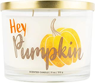 Aromascape Hey Pumpkin, 3 Wick Scented Candle, White