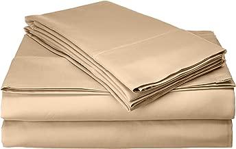 Francois et Mimi T1200KMS 1200 Thread Count Cotton-Rich Sheet Set, King, Mustard