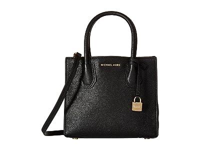 MICHAEL Michael Kors Mercer Medium Messenger (Black) Messenger Bags