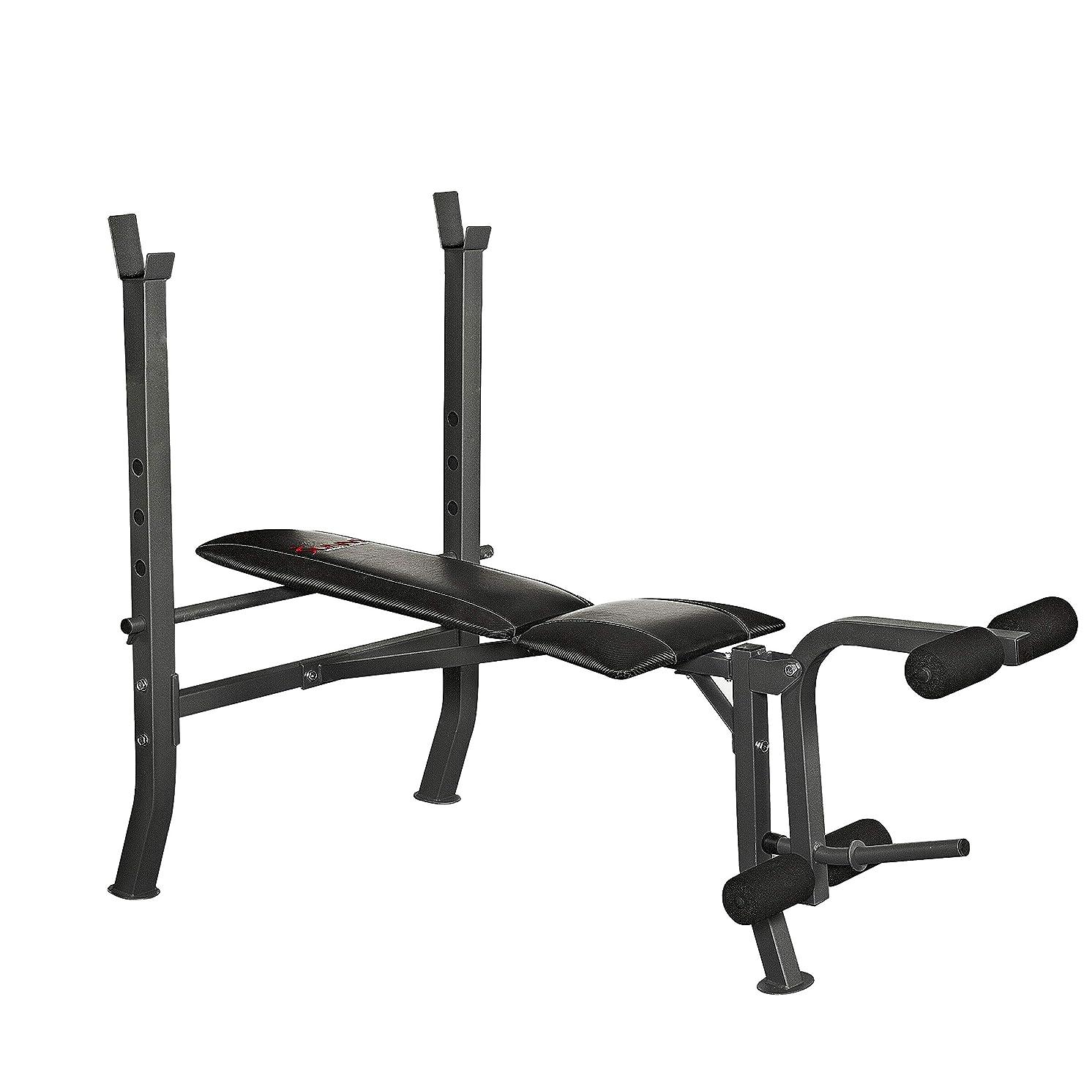 アヒル迫害シンカンSunny Health & Fitness 調節可能なウエイトベンチ デクライン付き フラットで傾斜のトレーニングポジションと脚の開発 膝の拡張とハムストリングエクササイズ用 SF-BH6811