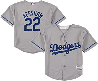 Clayton Kershaw Los Angeles Dodgers Gray Youth Cool Base Alternate Replica Jersey